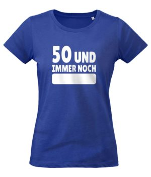 T-Shirt 50 Jahre Frauenpower in Blau